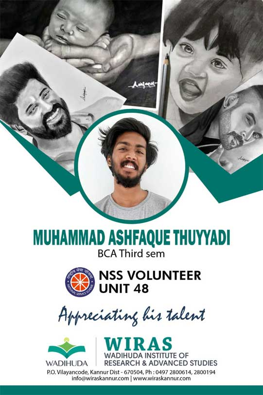 Appreciating the talent of Muhammed Ashfaque