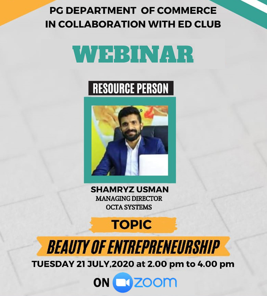 WEBINAR Beauty Of Enterpreneurship
